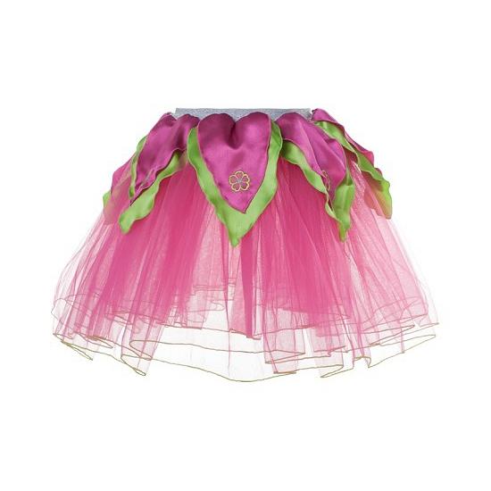 Roze/groene petticoat/tutu rokje voor meiden