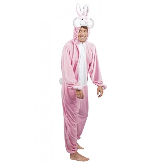 Roze konijn - haas kostuum voor heren