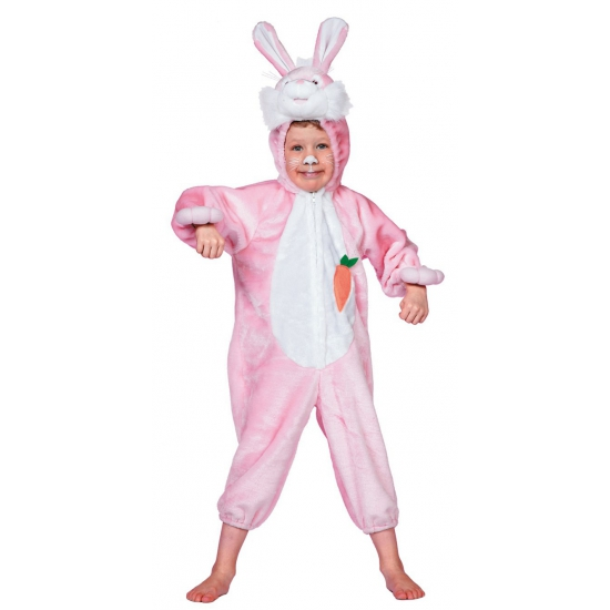 Roze konijnen pak voor kinderen 104 Roze