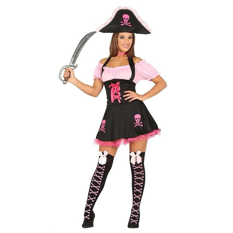 Roze piraten verkleedjurk voor dames