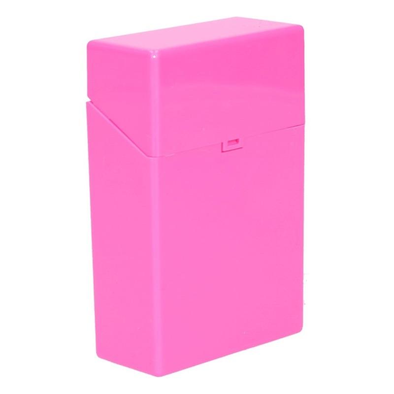 Roze sigarettendoosje kunststof