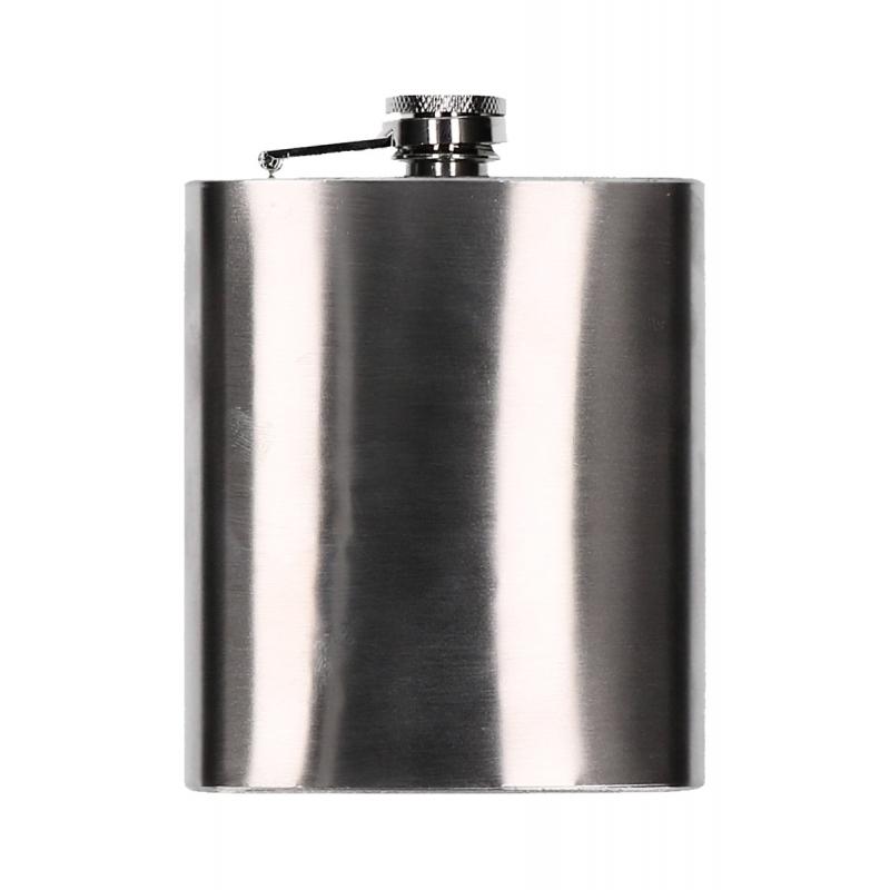 RVS heupflesje met schroefdop 200 ml