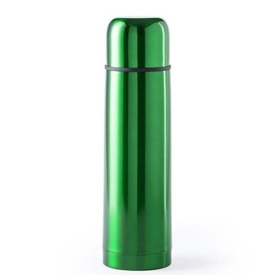 RVS thermosfles/isoleerkan 500 ml groen
