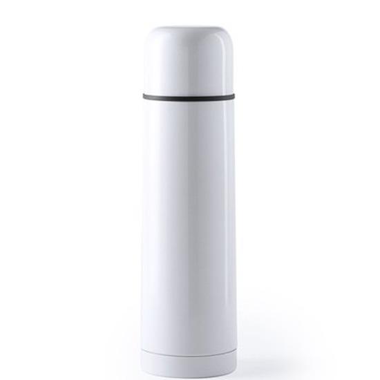 RVS thermosfles/isoleerkan 500 ml wit