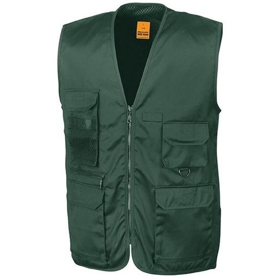 Safari/jungle verkleed bodywarmer/vest groen voor volwassenen