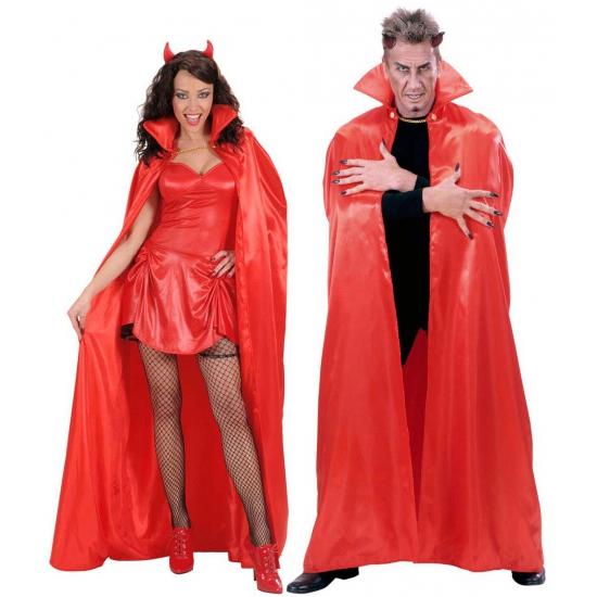 Satijnen cape rood