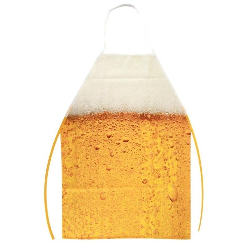 Schort met bier patroon one size -