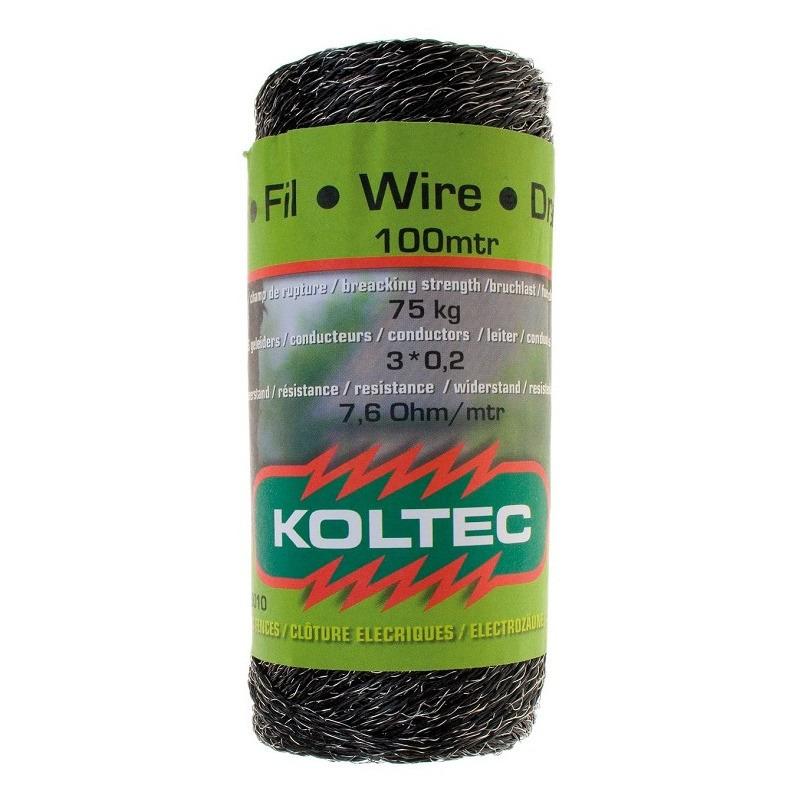 Schrikdraad kunststof zwart 2 mm 12 PE 100 meter