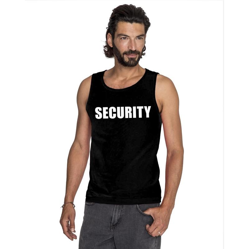 Security tekst singlet shirt/ tanktop zwart heren