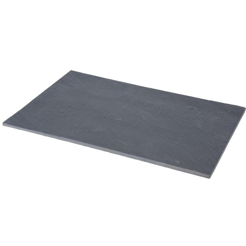 Serveerplank ontbijt snijplank van leisteen 30 x 20 cm