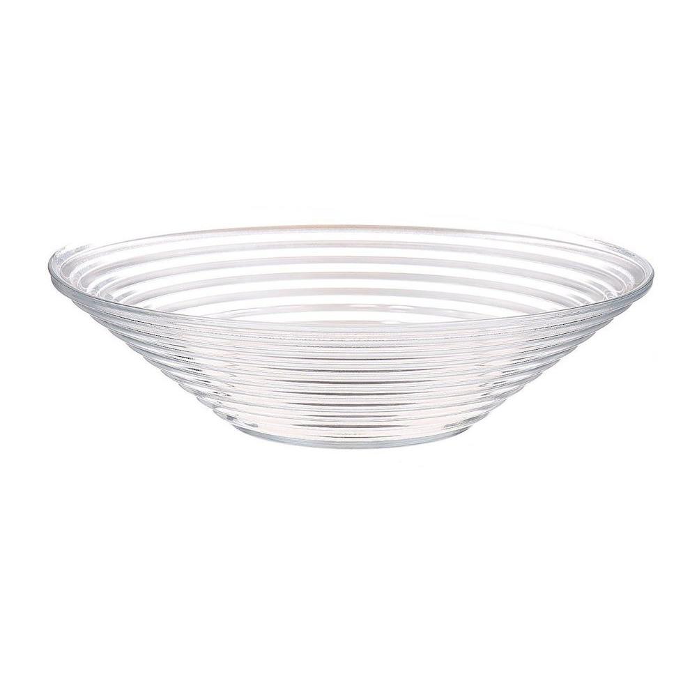 Serveerschaal-fruitschaal van transparant glas 29 cm