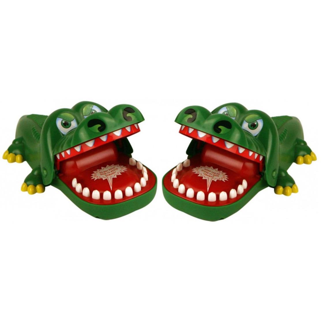 Set van 2x stuks bijtende krokodil spellen