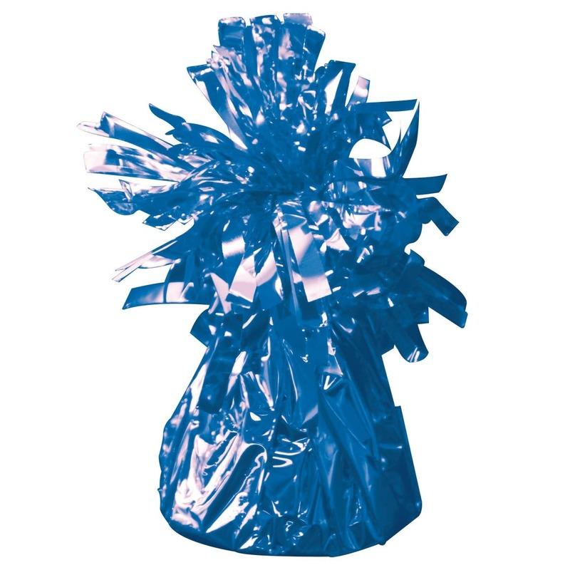 Set van 8x stuks ballon gewichtjes blauw 170 gram