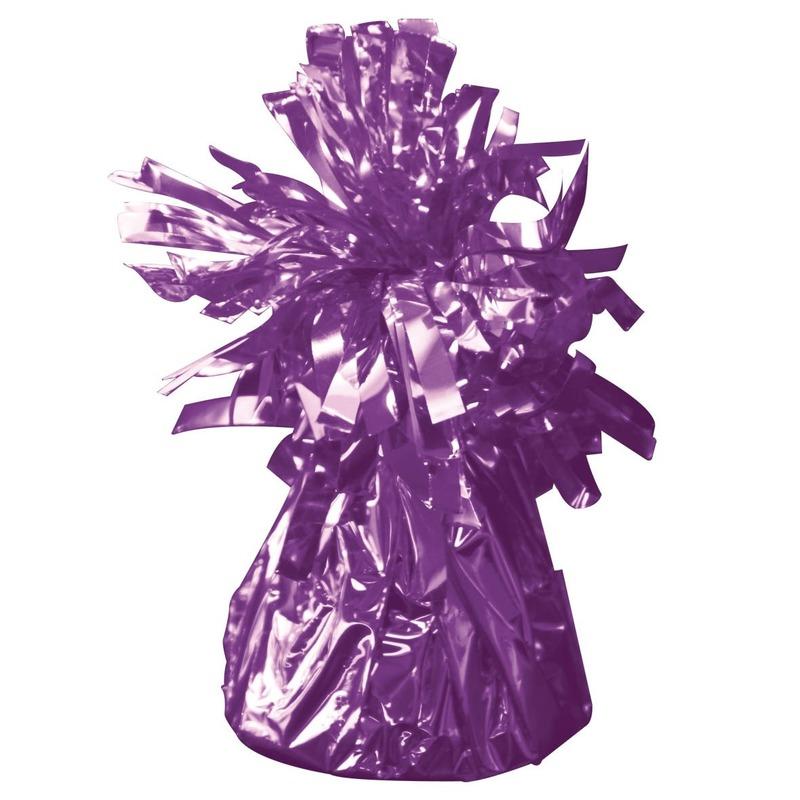 Set van 8x stuks ballon gewichtjes paars 170 gram