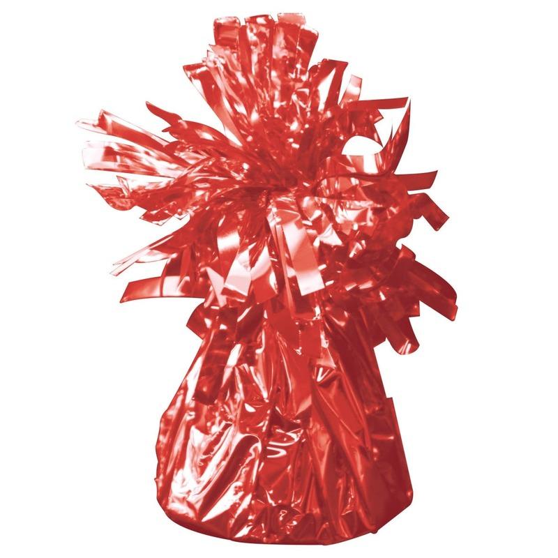 Set van 8x stuks ballon gewichtjes rood 170 gram