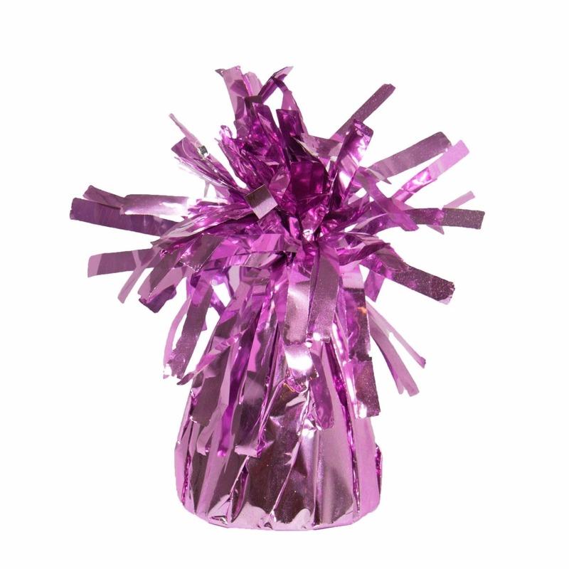 Set van 8x stuks ballon gewichtjes roze 170 gram