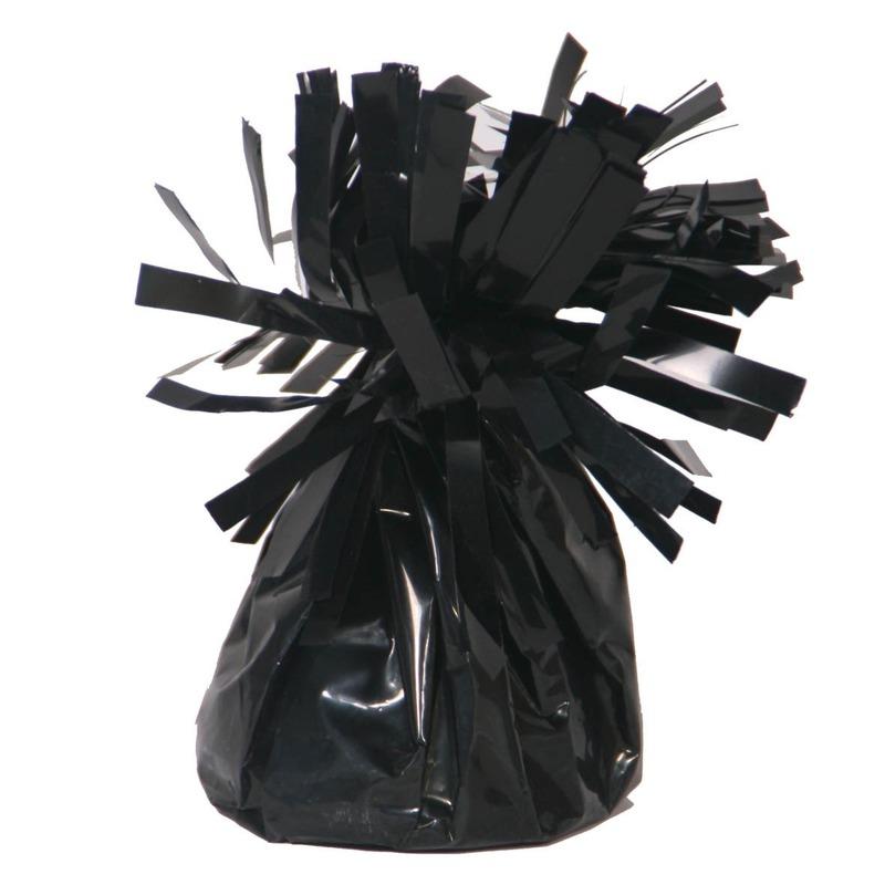 Set van 8x stuks ballon gewichtjes zwart 170 gram