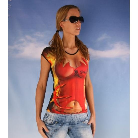 Sexy dames t-shirt Duivel