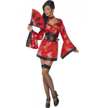Sexy Geisha kostuum met shotglas riem