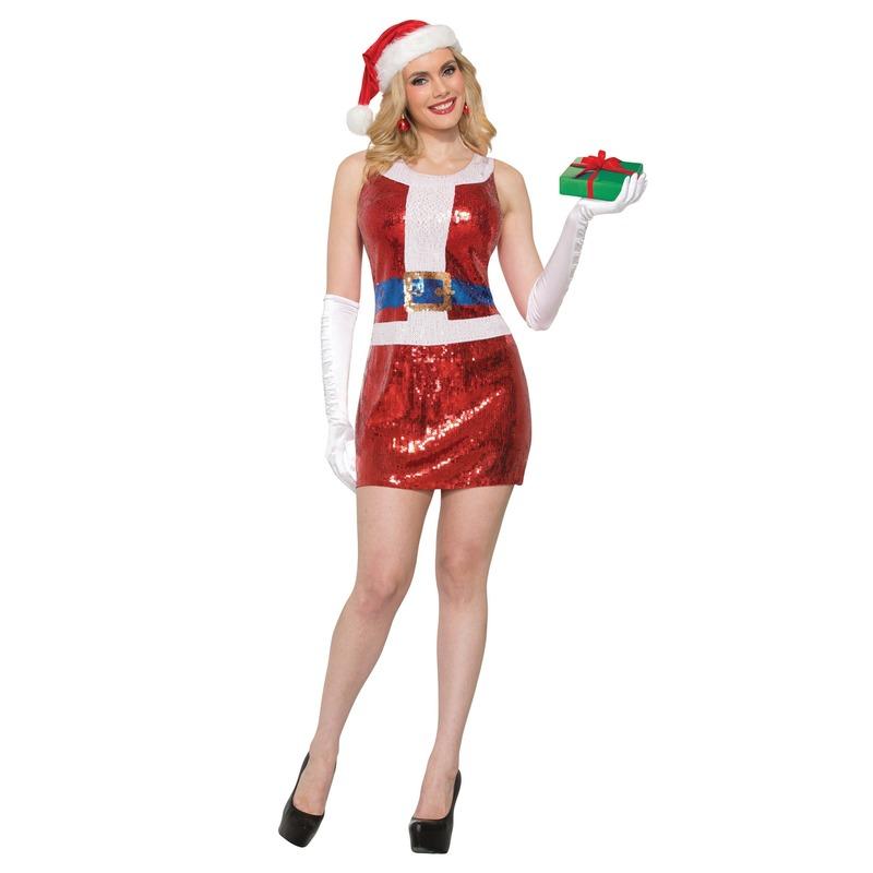 Sexy Kerst jurkje met pailletten voor dames