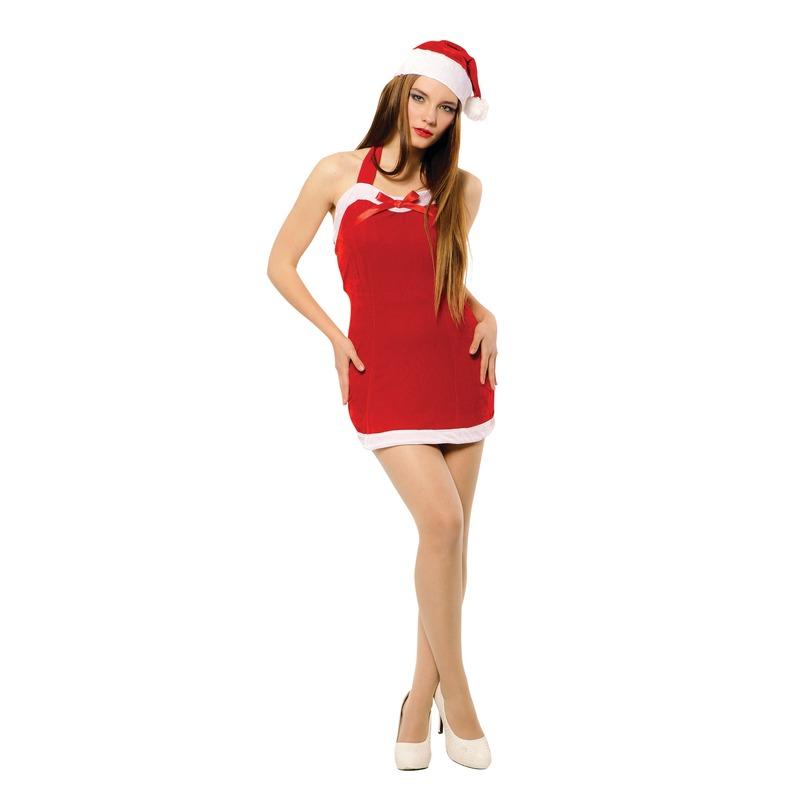 Sexy Kerstvrouw jurkje met kerstmuts voor dames