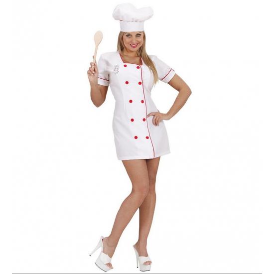 Sexy koks kostuum voor dames