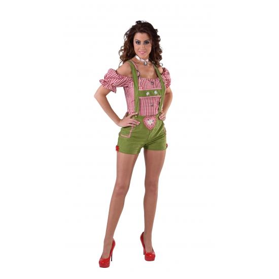 Sexy lederhose groen voor dames