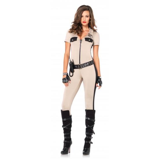 Sexy politie catsuit met accessoires