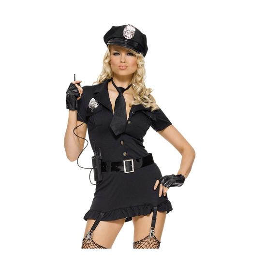 Sexy politie verkleedkleding kostuum voor dames