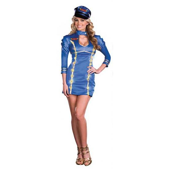 Sexy stewardess kostuum met licht