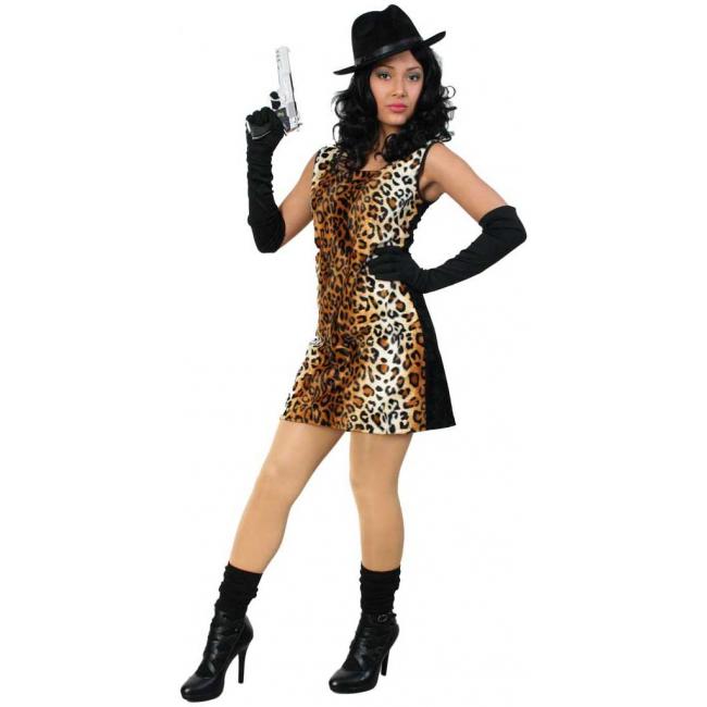 Sexy tijgerprint jurkje voor dames