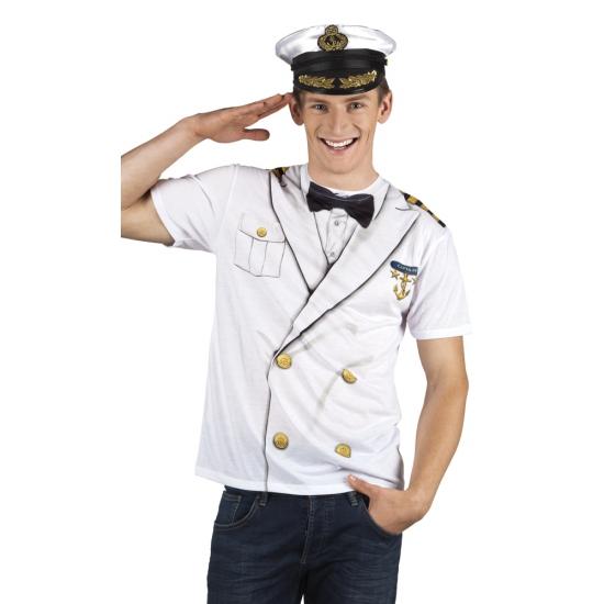 Shirt kapiteinspak opdruk heren