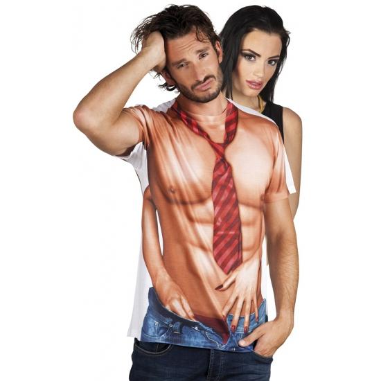 Shirt met naakte man opdruk