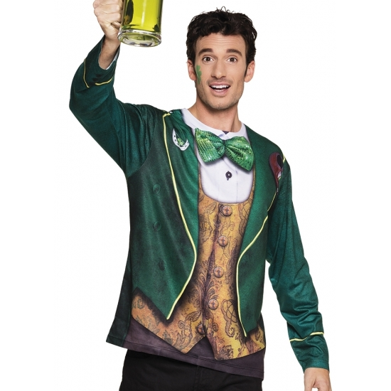 Shirt St. Patricks day opdruk heren