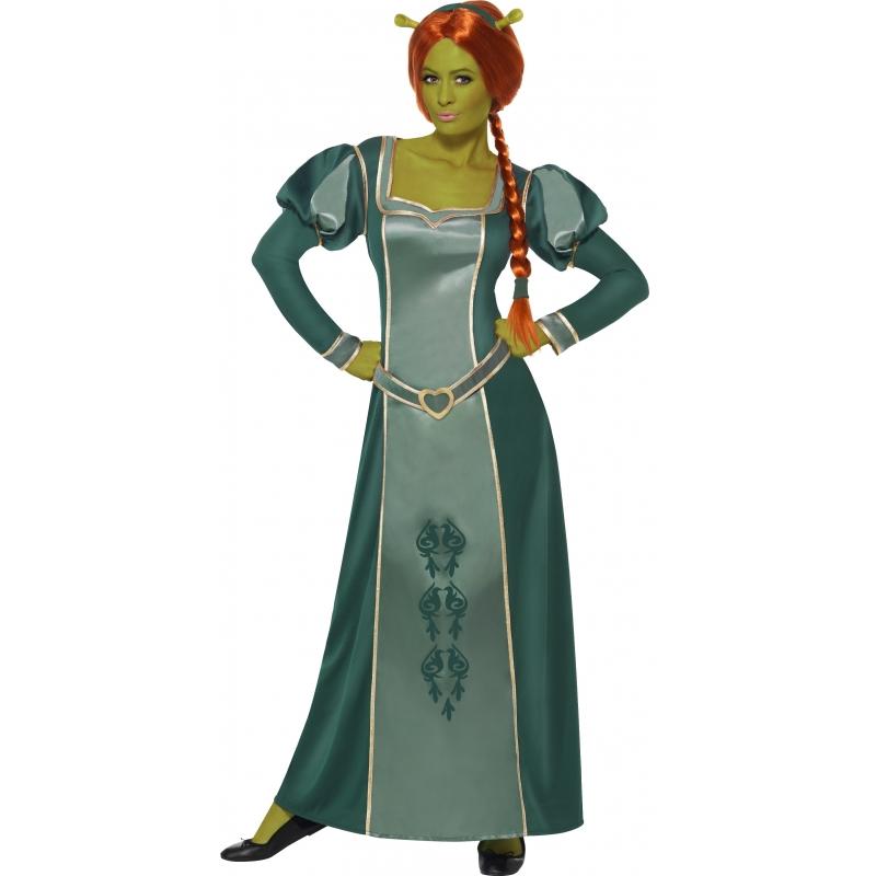 Shrek prinses Fiona oger verkleed kostuum/jurk voor dames