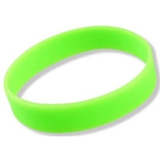 Siliconen armband neon groen