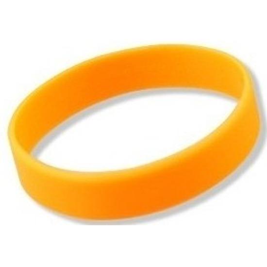 Siliconen armband neon oranje