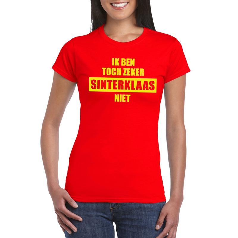 Sint shirt rood Ik ben toch zeker Sinterklaas niet voor dames