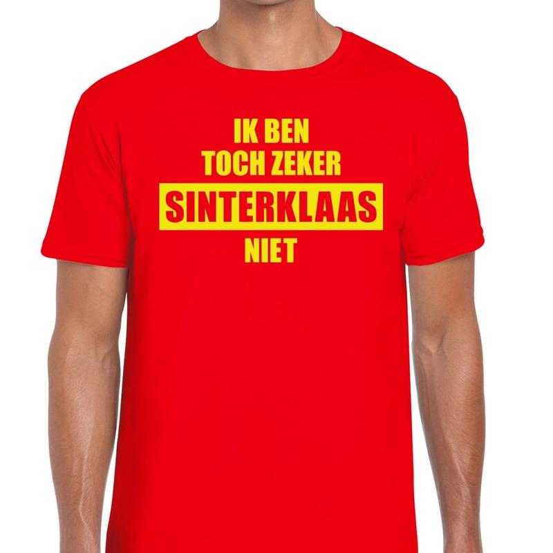 Sint shirt rood Ik ben toch zeker Sinterklaas niet voor mannen
