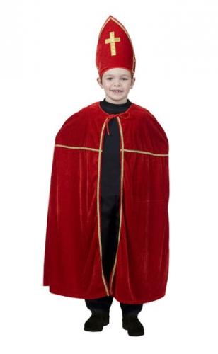 Sinterklaas cape en mijter voor kinderen