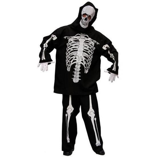 Skelet kostuum heren