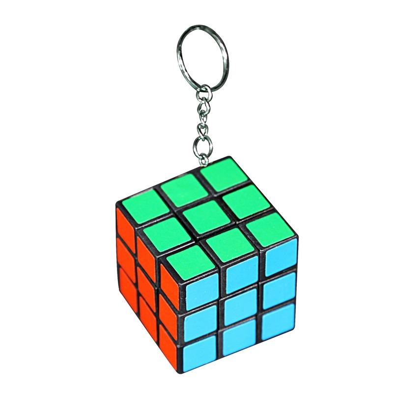 Sleutelhanger met kubus spelletje