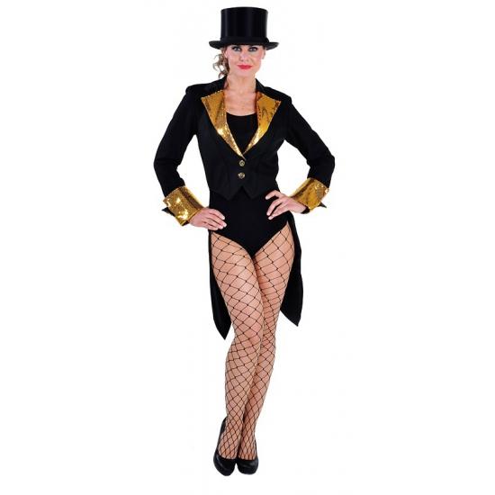 Slipjas voor dames zwart/goud