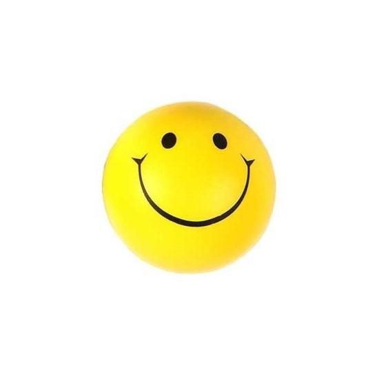 Smiley stressbal 6 cm
