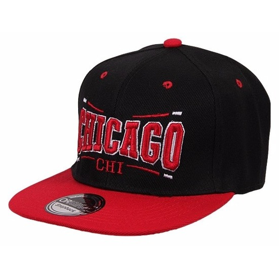 Snapback pet Chicago Bulls zwart/rood Zwart