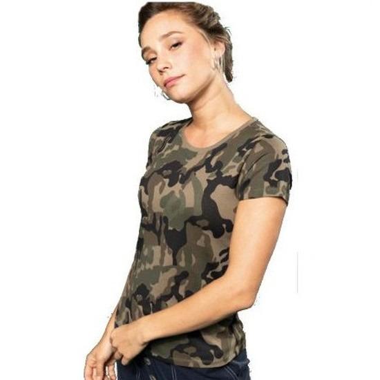 Soldaten - leger verkleedkleding camouflage shirt dames