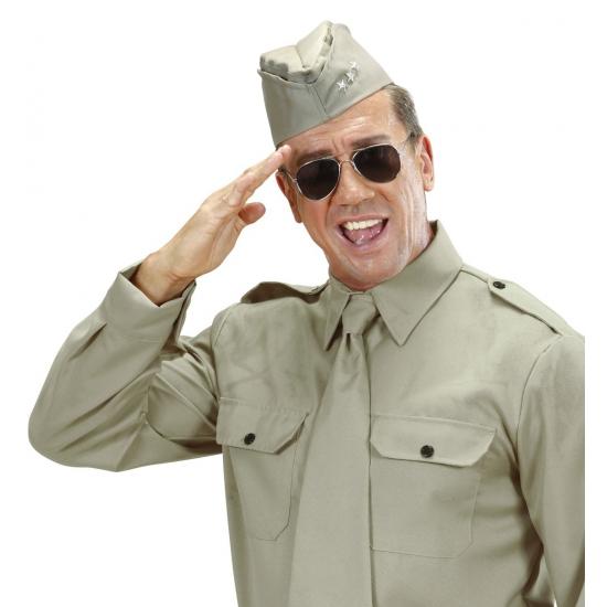 Soldaten verkleed muts met 3 sterren