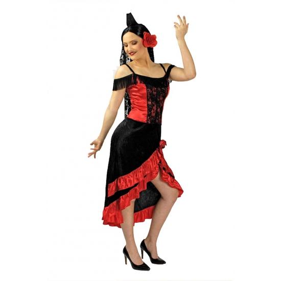 Spaanse flamenco jurk met hoofdsluier