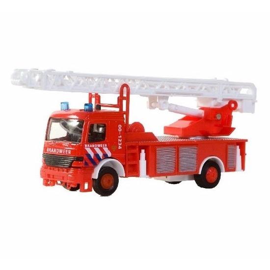 Speelgoed BMW brandweerwagen met ladder 15 cm