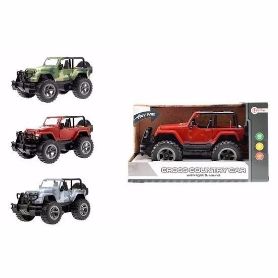 Speelgoed gele Jeep Wrangler auto 27,5 cm